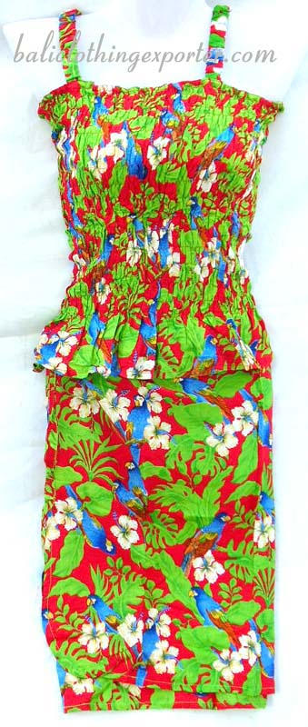 Tank top set, caribbean skirt set, womens tropical fashion clothes, bali style apparel, summer fashion wear, resort wear